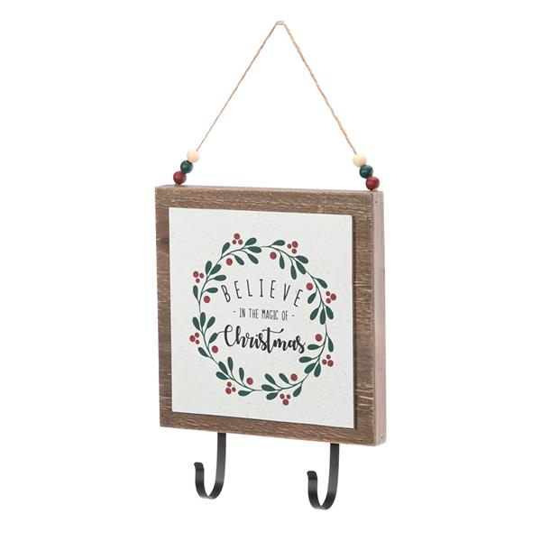 Artisasset a Set Believe In The Magic Of Christmas Christmas Wooden Wall Hanging
