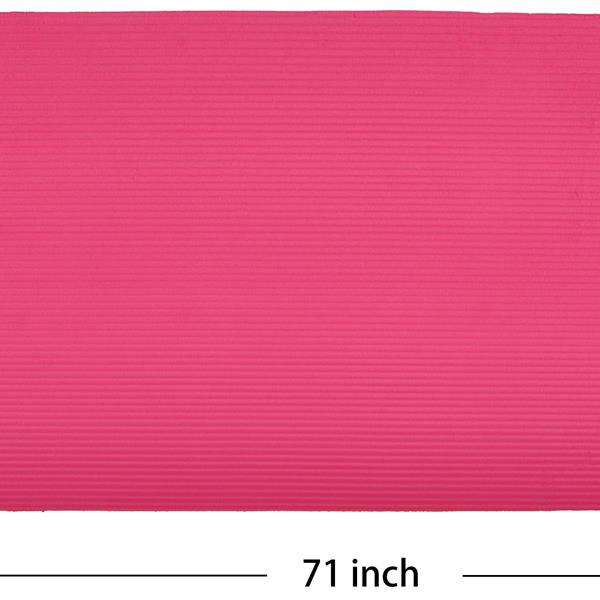 Ban on Amazon platform salesBalanceFrom GoCloud All-Purpose 1-Inch Extra Thick High Density Anti-Tear Exercise Yoga Mat with Carrying Strap, Pink