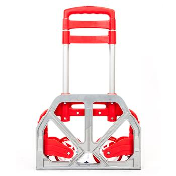 Ban on Amazon-Walmart platform salesKtaxon Folding Trolley Luggage Dolly Cart Height Adjustable Aluminum Collapsible Hand Cart with PU Rubber Wheels (Red)