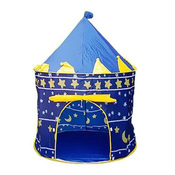 Portable Folding Blue Play Tent Children Kids Castle Cubby Play House Blue