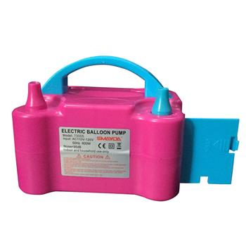 600W 110V Portable Electric Balloon Pump (UK Standard) Rose Red & Blue