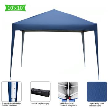 3 x 3m Practical Waterproof Right-Angle Folding Tent Blue