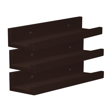 Set of 3 14-inch Floating Wall Shelves by Brown
