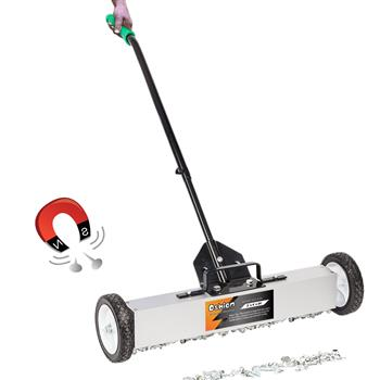 "Oshion 24"" Magnetic Pick-Up Sweeper with Wheels"