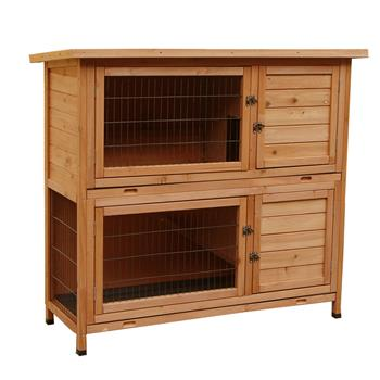 "48"" 2 Tiers Waterproof  Coop Rabbit Hutch Wood House Pet Cage for Small Animals"