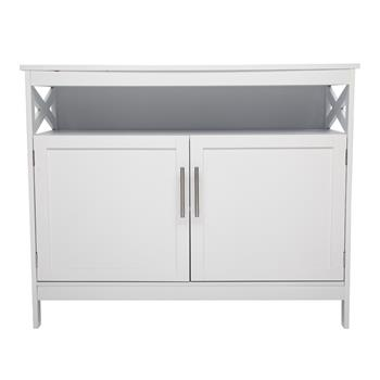 FCH Double Door Side Cabinet With Partition White