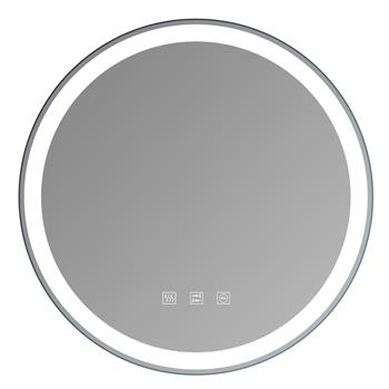 """Round Touch LED Bathroom Mirror, Tricolor Dimming,  Brightness Adjustment -20"""""""