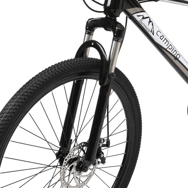 [Camping Survivals] 26-Inch 21-Speed Olympic Mountain Bike Black And White