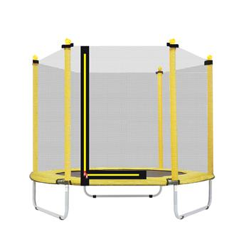 """60"""" Round Outdoor Trampoline with Enclosure Netting"""