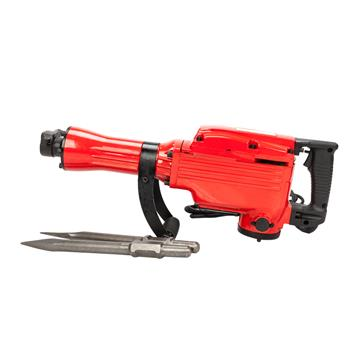 "2200W 1-1/8"" Electric Demolition Jack Hammer 1500W Concrete Breaker Chisels Red"