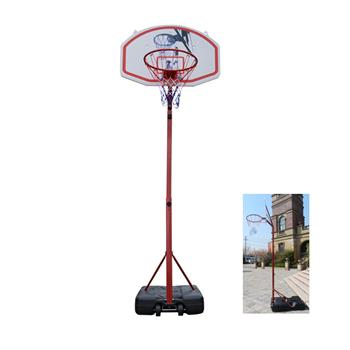 Medium Portable Basketball Stand (Rim Height 2.1-2.6m) Maxium Applicable Ball Model 7# Red & Black & White