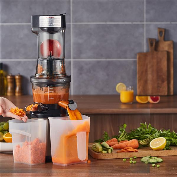 """Ban on Amazon platform salesCOMFEE' Juicer Extractor/Ice Cream Maker. 3.4"""" Chute. 55 RPM Slow Cold Press Masticating and Grinding. Quiet Motor. Reverse Function (Champagne Gold)"""