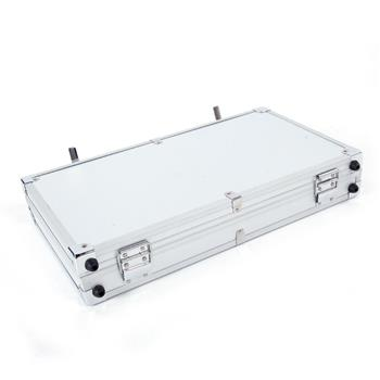 45*25*7.5cm Aluminum New Framed Locking Gun Pistol HandGun Lock Box Hard Storage Carry Case Silver