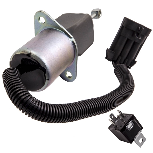保险杠Diesel Fuel Shut off Solenoid + Relay for Dodge Ram 3500 Cummins Base 5.9L L6 12V Turbocharged N/R 1994-1998 3931570