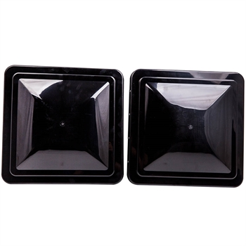 "2pcs Black 14"" x 14"" RV Replacement Roof Vent Cover For Camper Trailer"