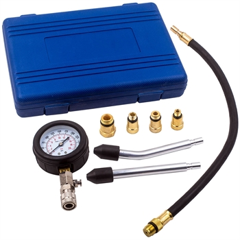 Engine Cylinder Compression Pressure Tester Gauge Test Kit