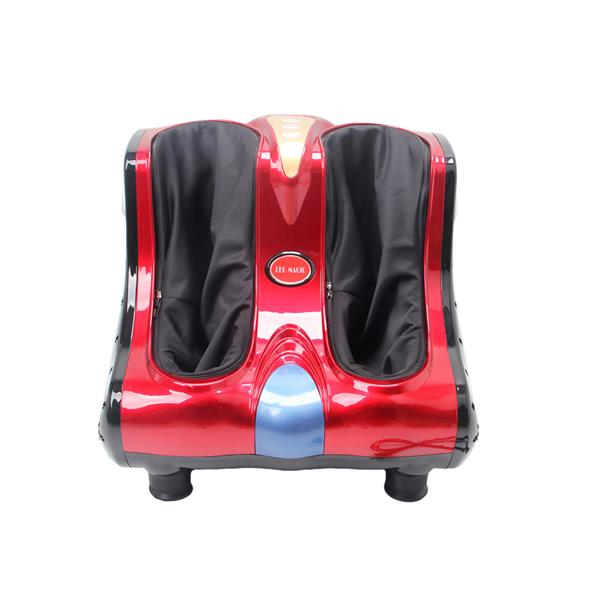 Smart Kneading Rolling Vibration Shiatsu Foot Calf Leg Massager 220V UK Plug Red