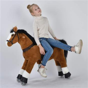 UFREE Medium 36'' Ride-on Horse for Children 4-9 Years Old. (Black Mane and Tail) (DO NOT SELL ON AMAZON) (DISCOUNT ON BULK PURCHASE)