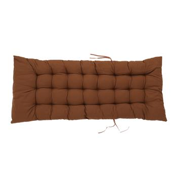"50x19"" Folding Chair Cushion Brown"