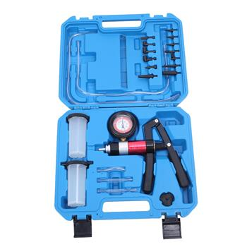 21 PC Hand Held Vacuum and Pressure Pump Tester Tool Brake Fluid Bleeder Kit