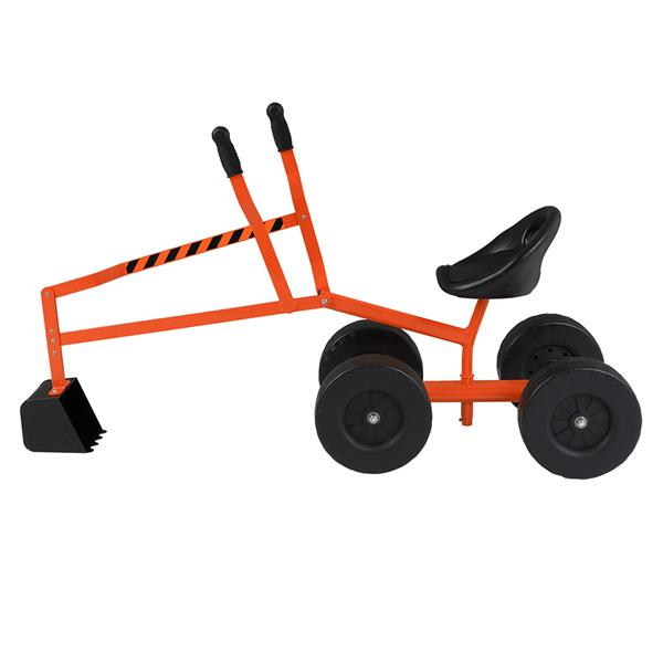 Kids Sand Digger Ride On With Wheels And 360°Rotatable Seat, Outdoor Ride On Excavator Toy For Kids  Orange