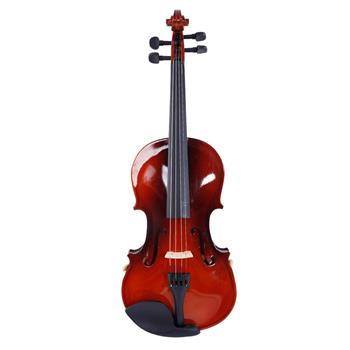 [Do Not Sell on Amazon]Glarry GV100 1/2 Acoustic Violin Case Bow Rosin Strings Tuner Shoulder Rest Coffee
