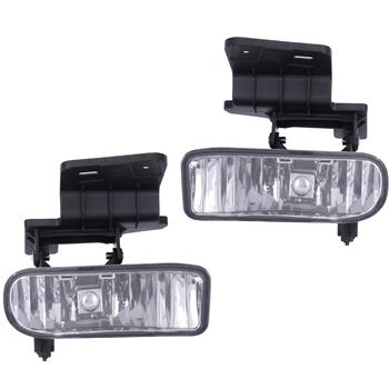 Clear Bumper Fog Lights Driving Lamps for 00-06 Chevy Suburban Tahoe
