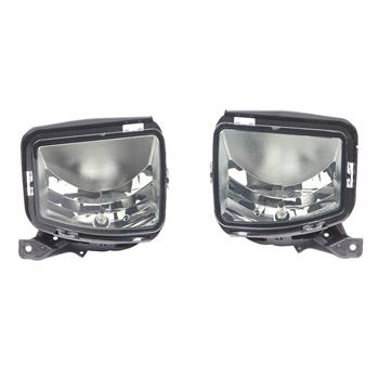 Pair For 13-18 Dodge RAM 1500 Smoke Fog Light Front Bumper Lamps Switch Wiring