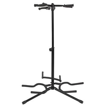 [Do Not Sell on Amazon]Glarry Guitar Accessory 3-Leg Vertical Style Alloy Guitar Stand Holder Black