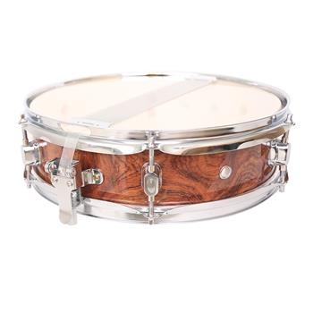"""[Do Not Sell on Amazon]Glarry 13 x 3.5"""" Snare Drum Poplar Wood Drum Percussion Set Tiger Stripes"""