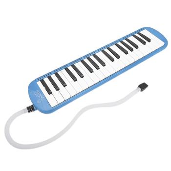 [Do Not Sell on Amazon]Glarry 37-Key Melodica with Mouthpiece & Hose & Bag Blue