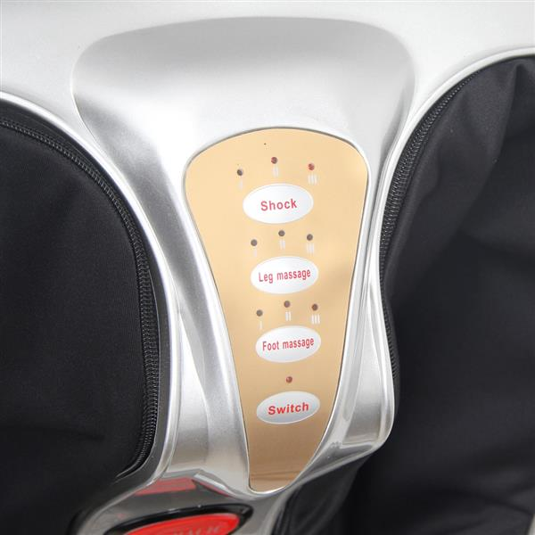 Smart Kneading Rolling Vibration Shiatsu Foot Calf Leg Massager 110V UK Plug Gray