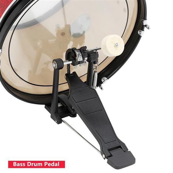 """[Do Not Sell on Amazon]Glarry 16in 5-Piece Complete Kids Junior Drum Set with Bass Drum, two Tom Drum, Snare Drum, Floor Tom, 10"""" Brass Crash-Ride, 8"""" Hybrid Hi-Hats, Stool, Drum Pedal, Sticks Glass R"""