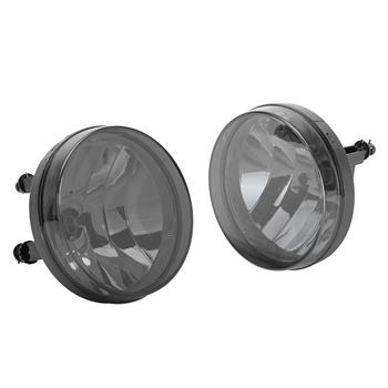 Smoked Bumper Fog Lights Left & Right for 2007-2013 GMC Sierra with Bulbs