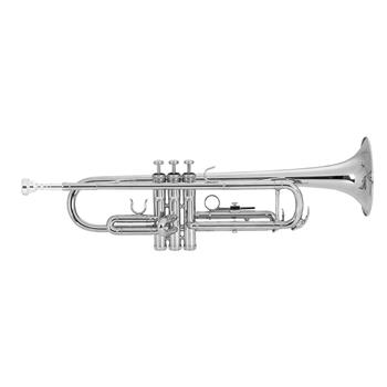 [Do Not Sell on Amazon]Glarry Brass Trumpet Bb with 7C Mouthpiece for Standard Student or Beginner Silver