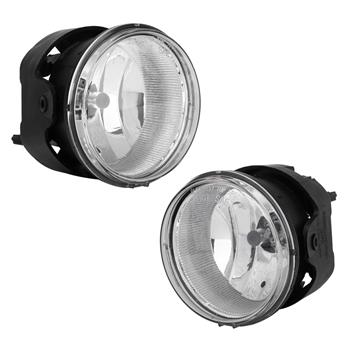 Clear Bumper Fog Lights for 05-10 Jeep Grand Cherokee / 06-10 Commander with Lamps & Bulbs