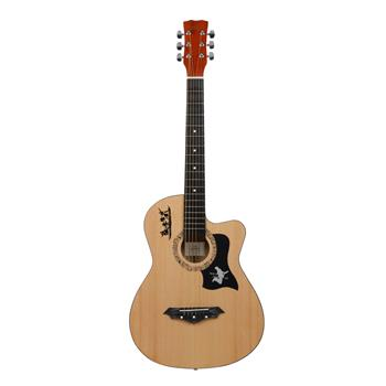 [Do Not Sell on Amazon]Glarry GT507 38 inch Spruce Guitar with Bag & Strap & Guitar Pick & LCD Mixer & Guard Plate & String Burlywood