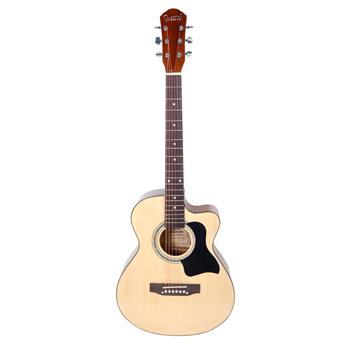 [Do Not Sell on Amazon]Glarry GT304 38 inch Spruce Front Cutaway Folk Guitar with Bag & Board & Wrench Tool Glossy Edge Bur