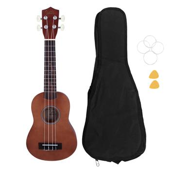 "[Do Not Sell on Amazon]Glarry UK103 26"" Pure Color Rosewood Fingerboard Basswood Tenor Ukulele with Bag Strings Picks Brown"