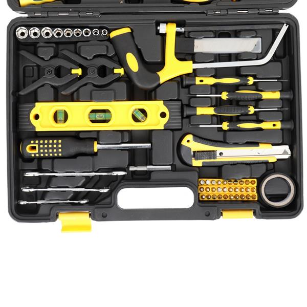 218pcs Iron Household Tool Set Black