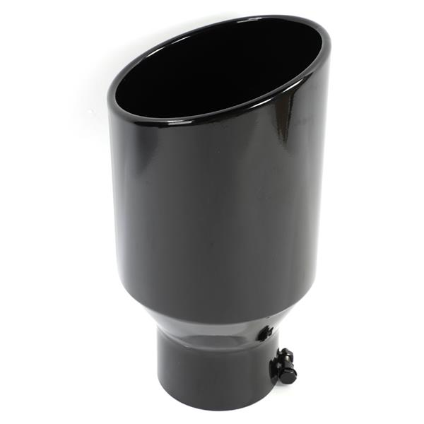 "Black Paint Stainless Steel Exhaust Tip for Most Vehicles With 5"" Diameter Inlet Size Only"