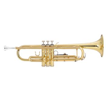[Do Not Sell on Amazon]Glarry Brass Trumpet Bb with 7C Mouthpiece for Standard Student or Beginner Golden