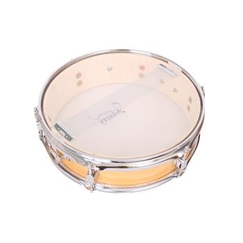 """[Do Not Sell on Amazon]Glarry 13 x 3.5"""" Snare Drum Poplar Wood Drum Percussion Set Wood Color"""