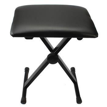 [Do Not Sell on Amazon]Glarry Adjustable Folding Piano Bench Stool Seat Black