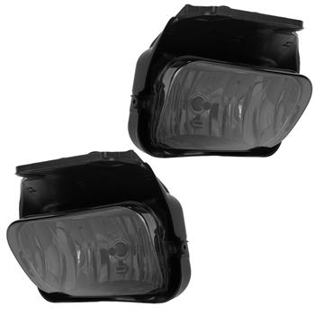 Smoked Fog Lights Lamps for 2003-2006 Silverado 1500 2500 3500 with Bulbs & Bracket