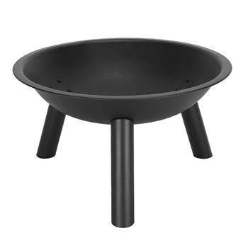 "22"" Iron Fire Pit Bowl Black"