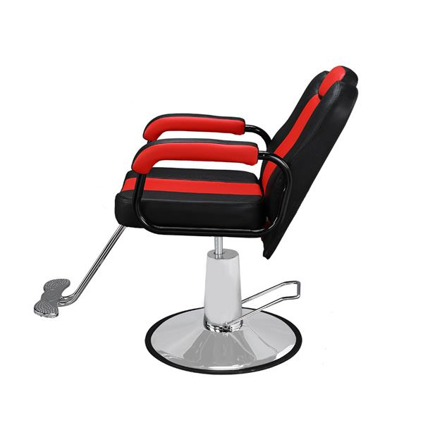 Barber Chair Black & Red