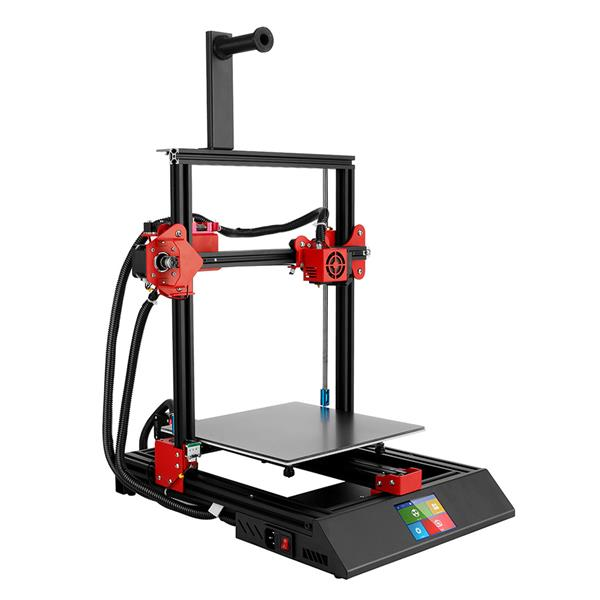 3.5 Inch Screen Auto-leveling Auto Feeding 3D Printer with Aluminum Heated Bed Tempered Glass Platform