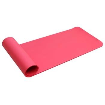 8mm Thickened NBR Pure Color Anti-skid Yoga Mat 183x61x0.8cm Red