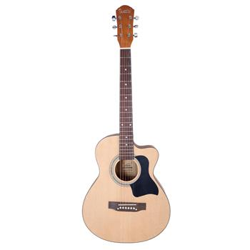 [Do Not Sell on Amazon]Glarry GT504 38 inch Spruce Front Cutaway Folk Guitar with Bag & Board & Wrench Tool Matte Edge Burl